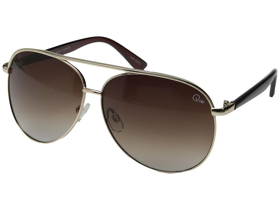 QUAY AUSTRALIA - Macaw (Gold/Brown Lens) Fashion Sunglasses