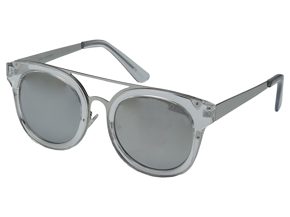 QUAY AUSTRALIA - Brooklyn (Clear/Silver Mirror) Fashion Sunglasses