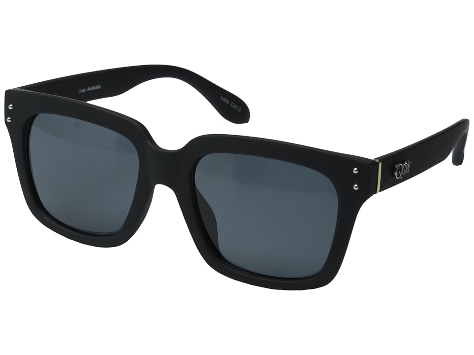 QUAY AUSTRALIA - The Wayside (Black/Smoke Lens) Fashion Sunglasses