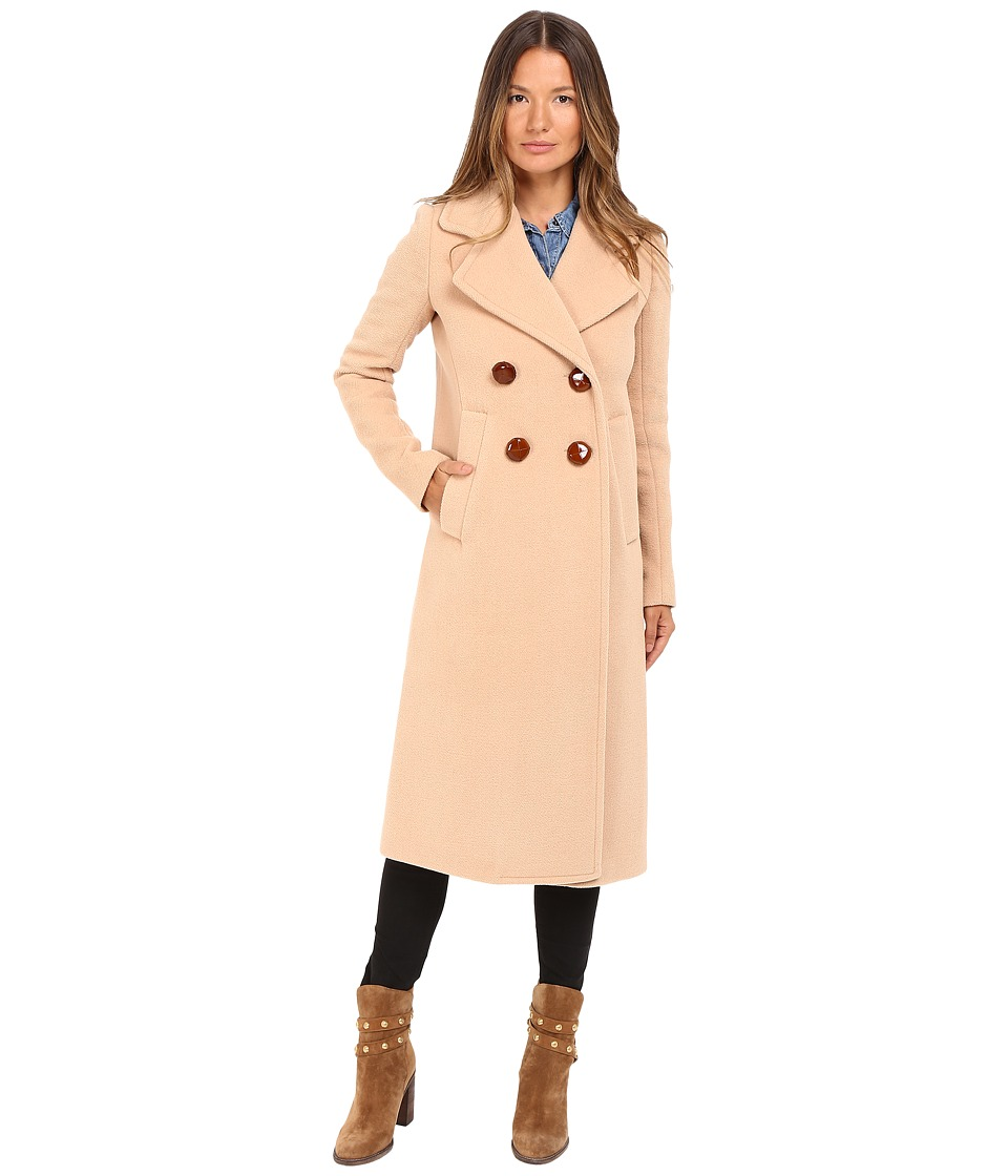 See by Chloe - Wool Button Closure Coat (Soft Camel) Women's Coat