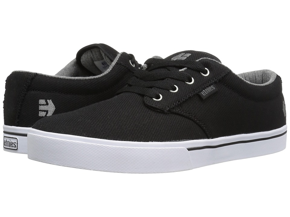 etnies - Jameson 2 Eco (Black/Grey/Silver) Men's Skate Shoes