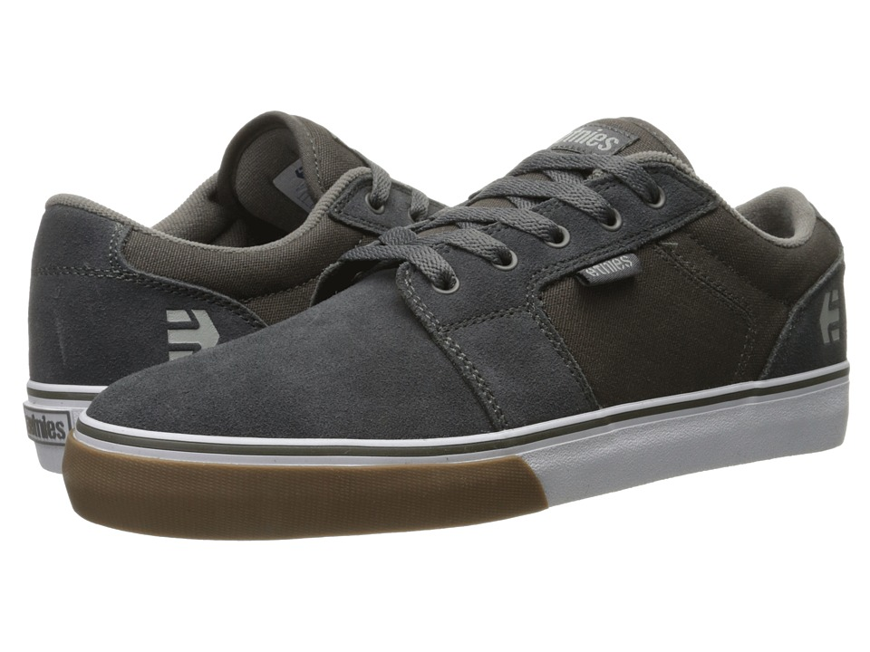 etnies - Barge LS (Grey/White/Gum) Men's Skate Shoes