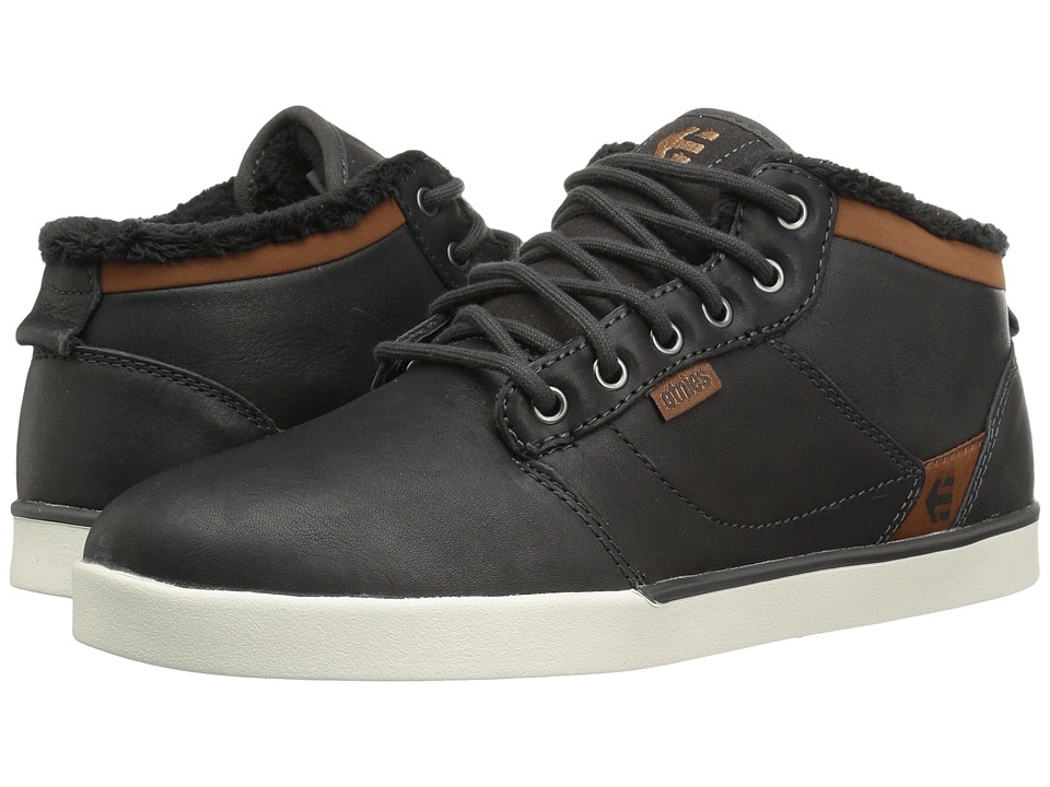 etnies - Jefferson Mid (Dark Grey) Men's Skate Shoes