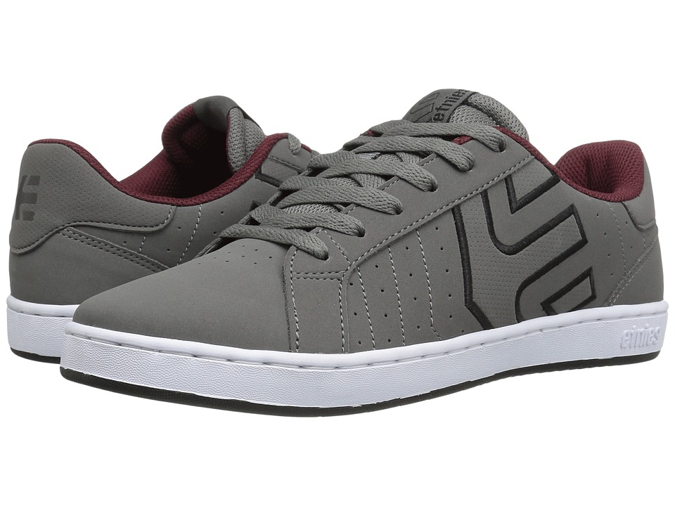 etnies - Fader LS (Grey/Black/Red) Men's Skate Shoes