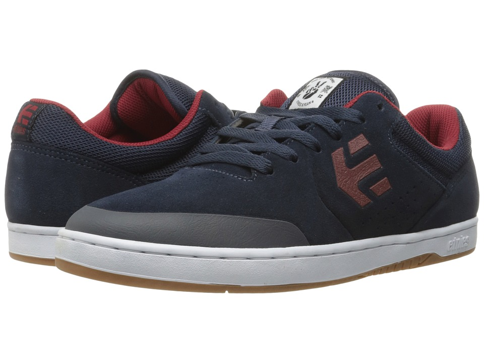 etnies - Marana (Navy/Red/White) Men's Skate Shoes