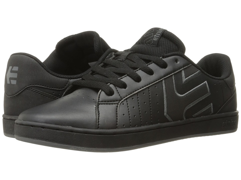 etnies - Fader LS (Black/Dark Grey) Men's Skate Shoes