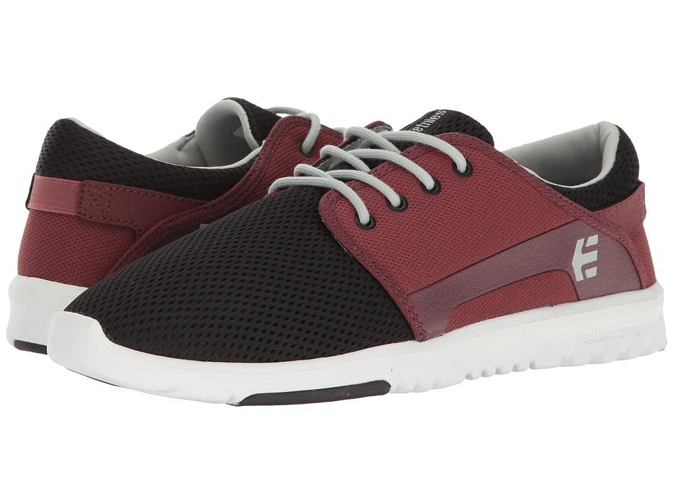etnies - Scout (Black/Red/Grey) Men's Skate Shoes