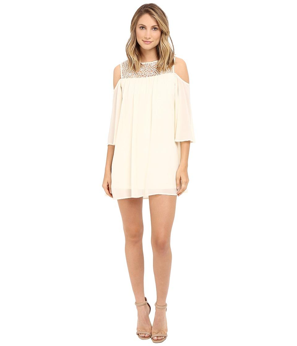 Brigitte Bailey - Crochet Cold Shoulder Dress (Natural) Women's Dress