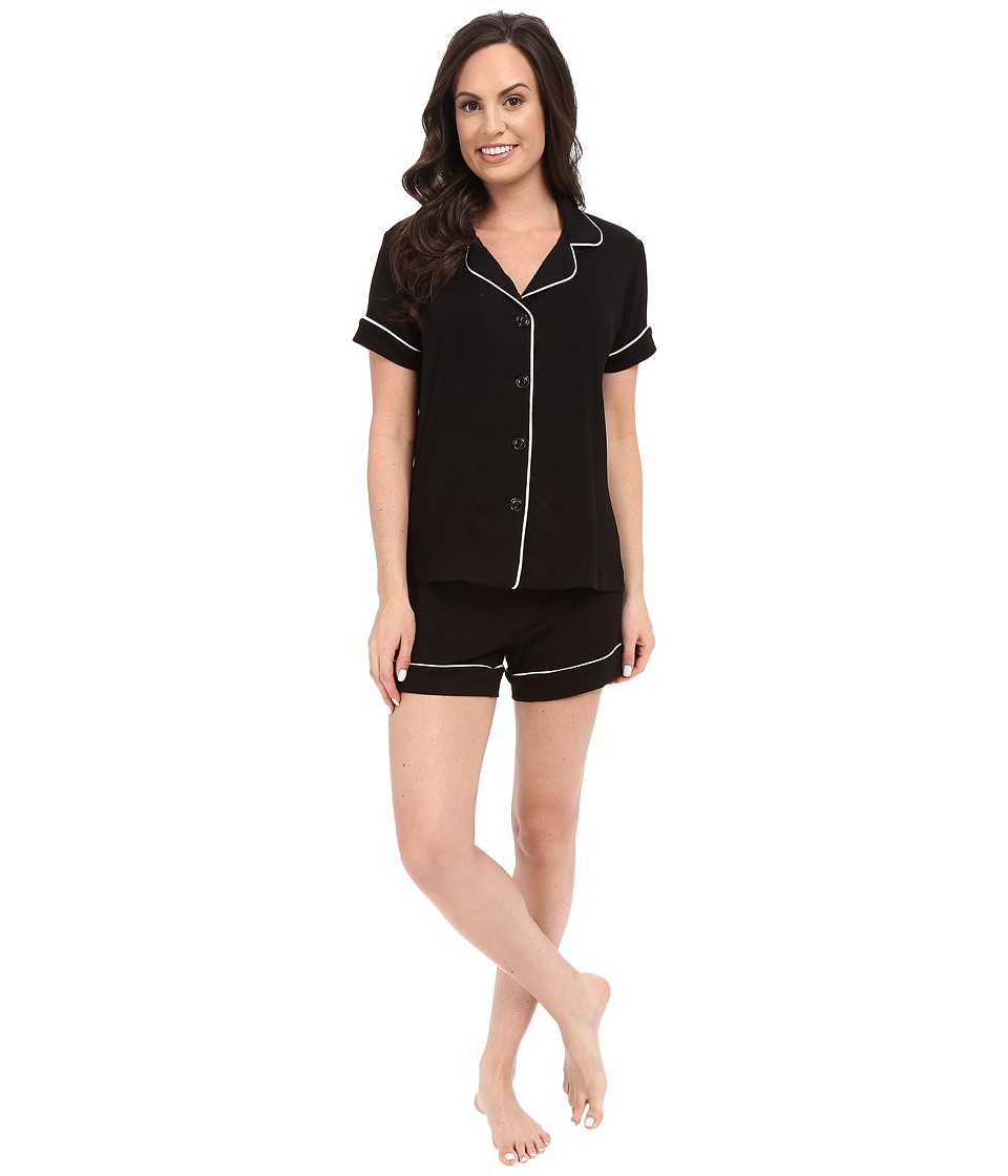 BedHead - Shorty PJ Set (Black Solid) Women's Pajama Sets