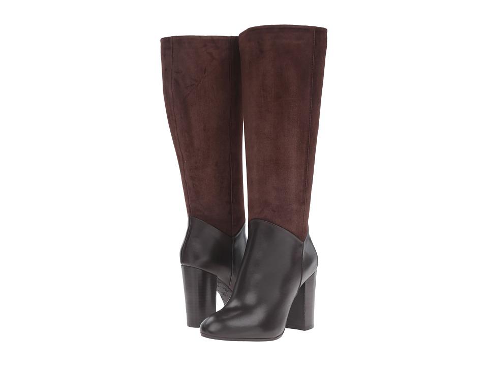 Johnston & Murphy - Yvonne (Dark Brown Calfskin/Dark Brown Suede) Women's Shoes