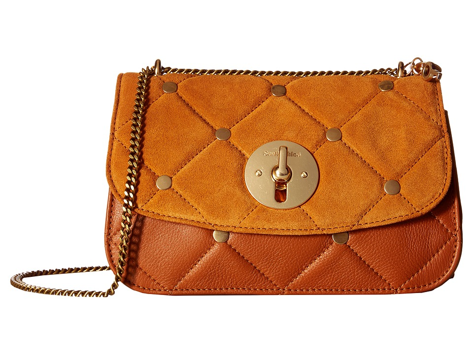 See by Chloe - Lois Medium Evening Double Carry Bag in Quilted Sheepskin (Hazel) Evening Handbags
