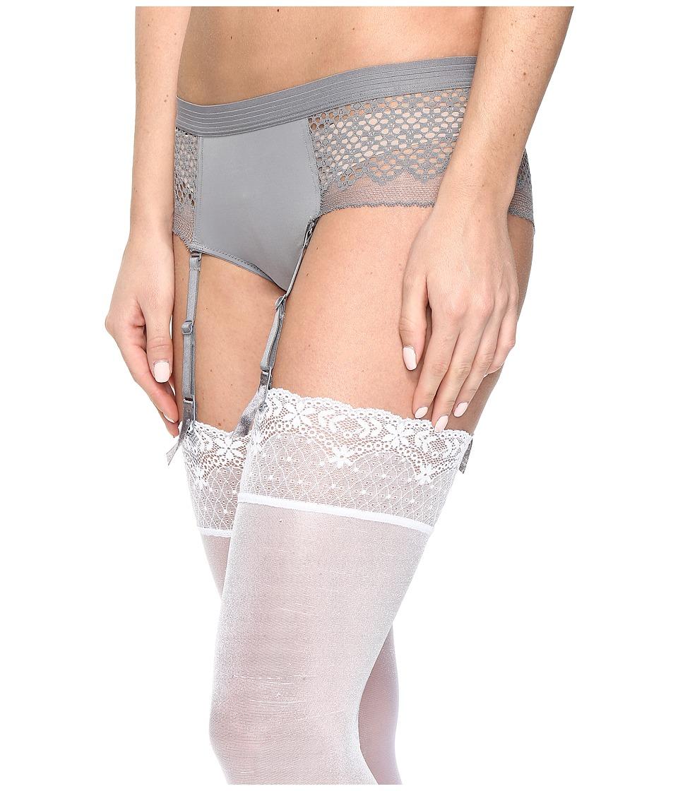 DKNY Intimates - Sheer Lace Garter (French Grey) Women's Underwear