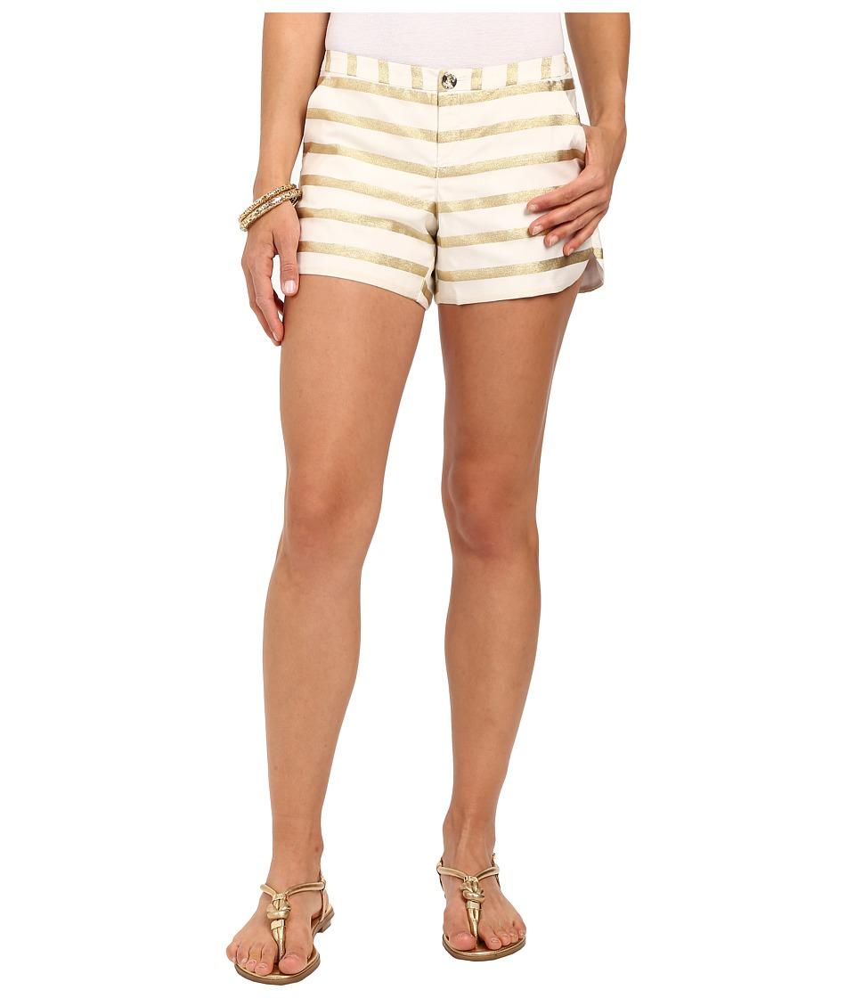 Lilly Pulitzer - Adie Shorts (Resort White Stripe Sateen) Women's Shorts