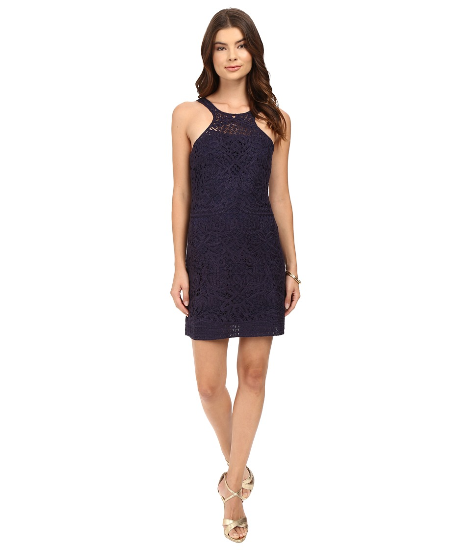 Lilly Pulitzer - Jaimie Shift Dress (True Navy Knit Crochet) Women's Dress