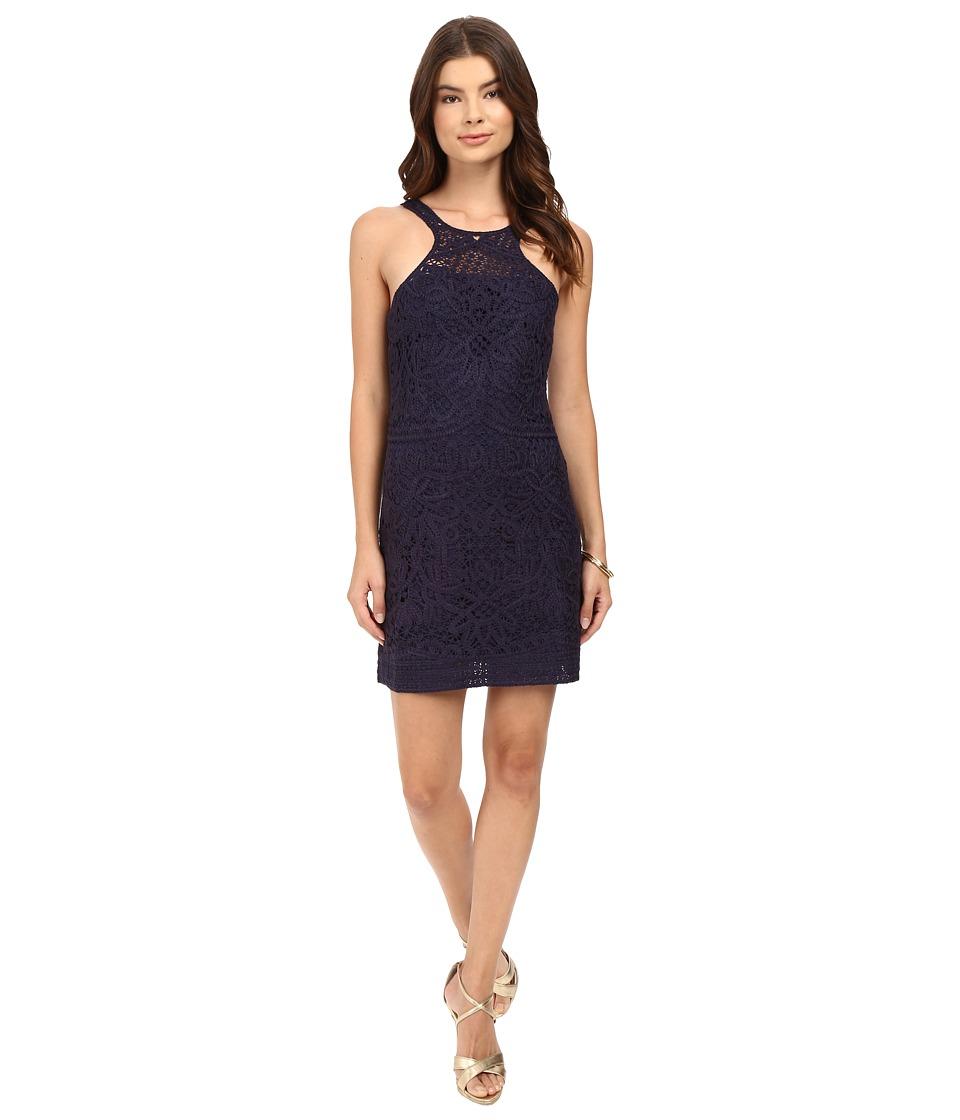 Lilly Pulitzer - Jaimie Shift Dress (True Navy Knit Crochet) Women's Dress