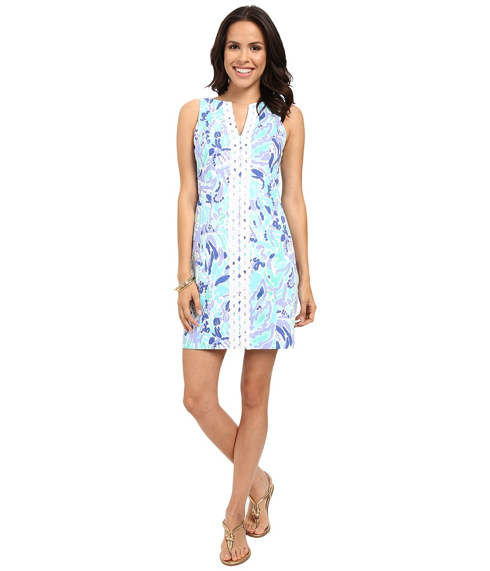 Lilly Pulitzer - Ryder Shift Dress (Lillys Lilac Nice Ink) Women's Dress