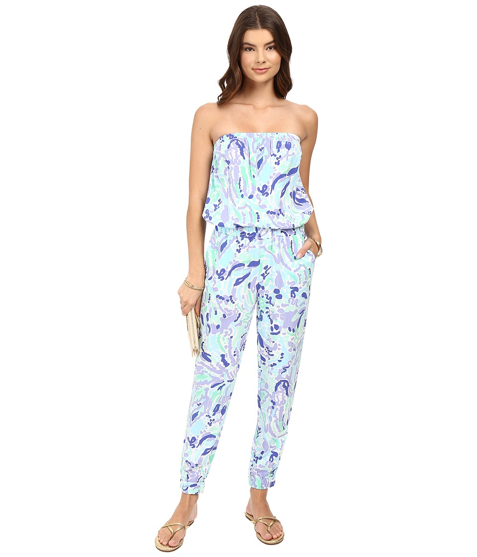 Lilly Pulitzer - Emiko Jumpsuit (Lillys Lilac Nice Ink) Women's Jumpsuit & Rompers One Piece