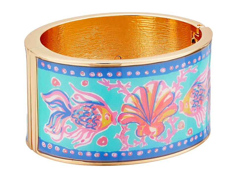 Lilly Pulitzer - Boca Grande Bangle (Pool House Blue Too Much Bubbly) Bracelet