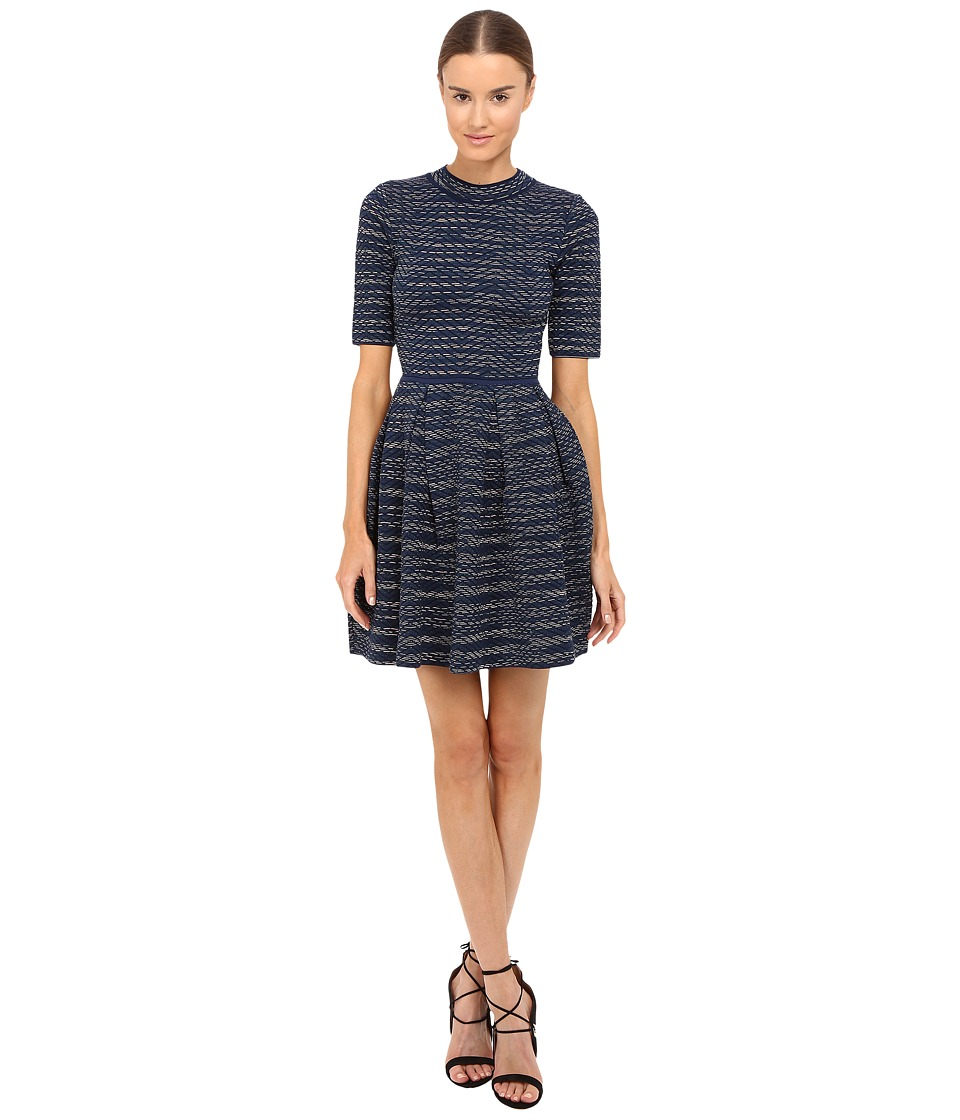 M Missoni - Spacedye 3/4 Sleeve Dress (Marine) Women's Dress