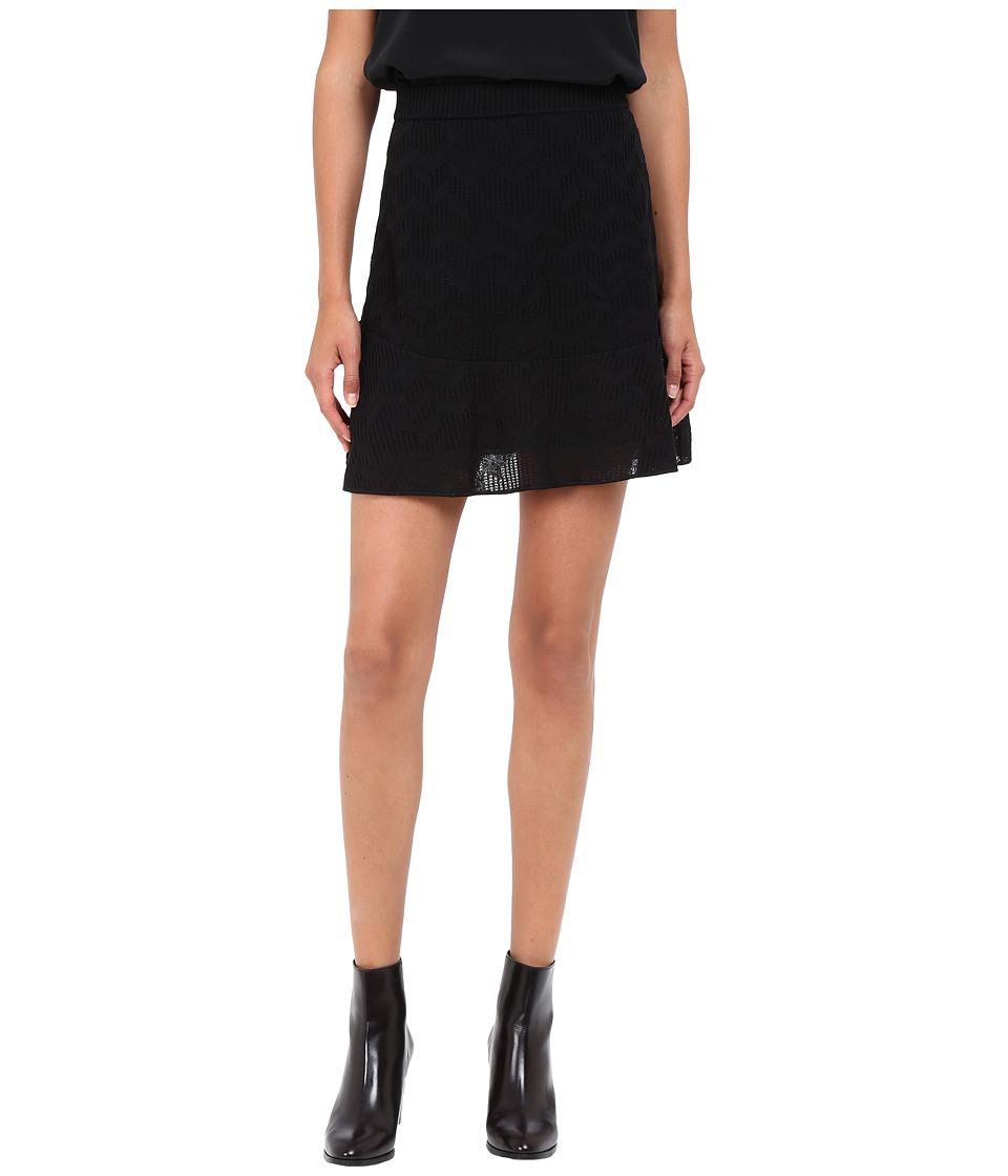 M Missoni - Solid Fancy Knit Skirt (Black) Women's Skirt