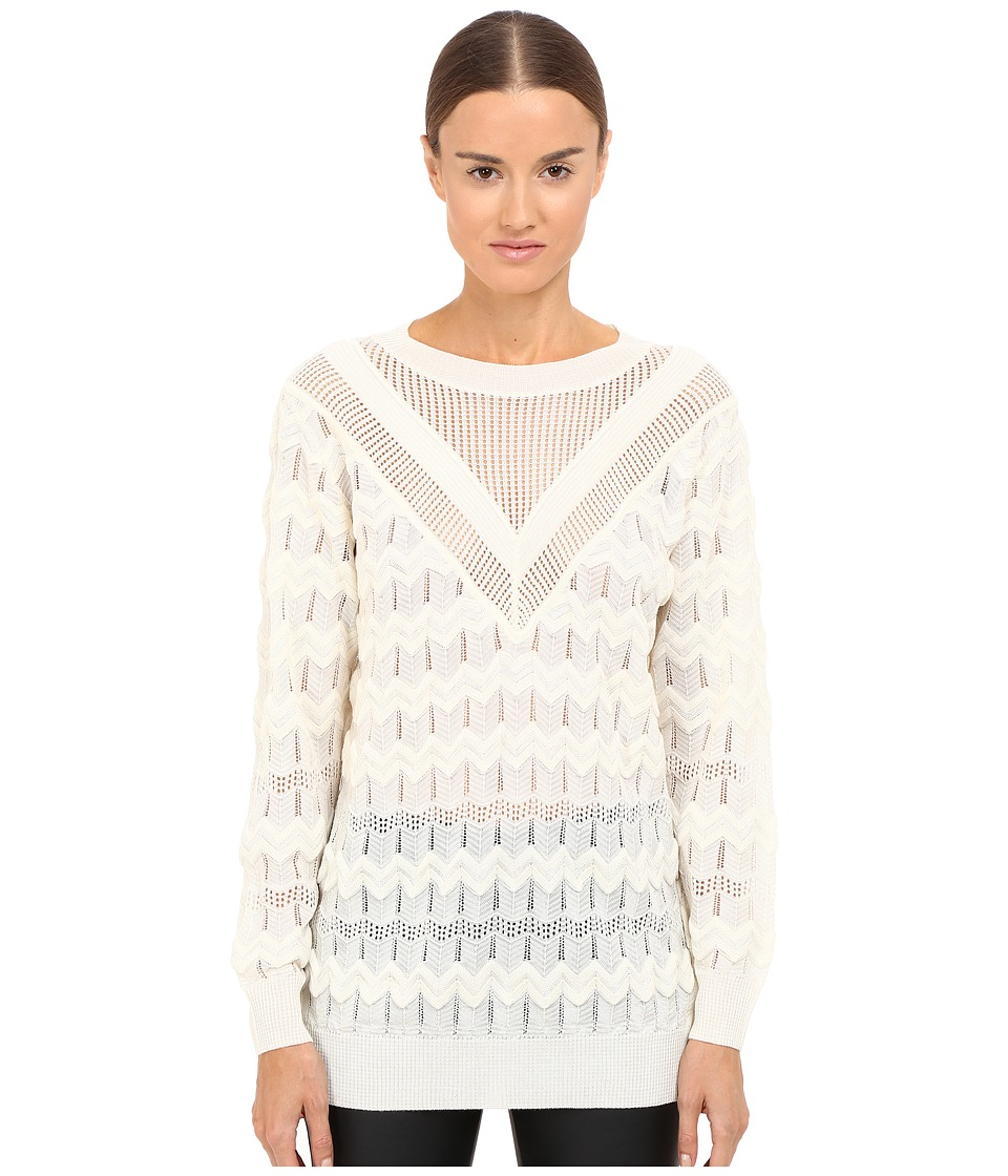 M Missoni - Solid Long Sleeve Top (Ivory) Women's Clothing