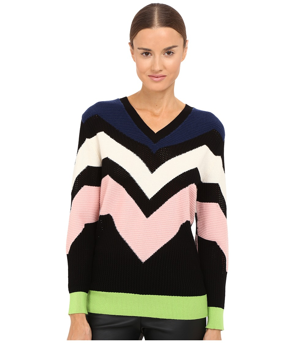 M Missoni - Graphic Intarsia Sweater (Navy) Women's Sweater
