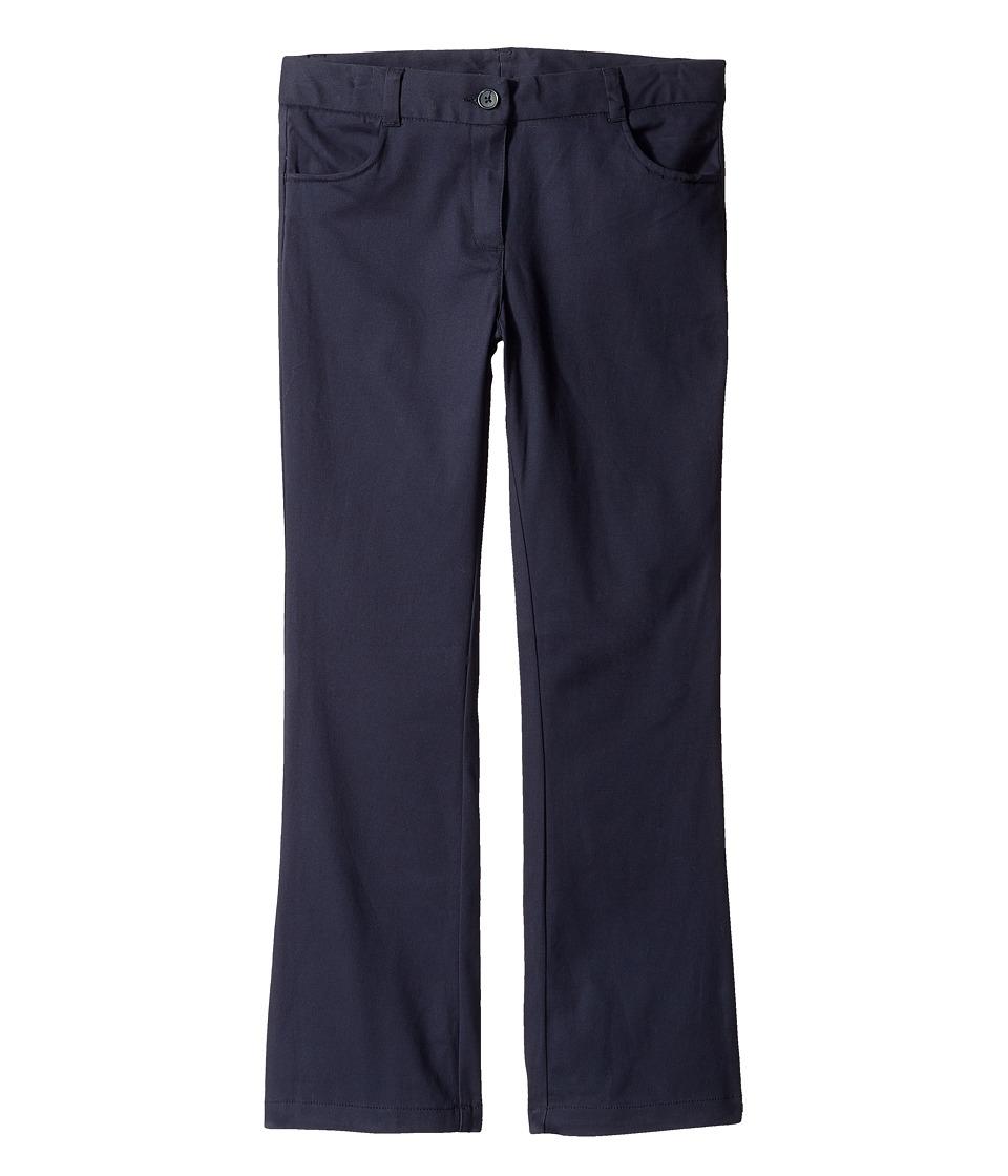 Nautica Kids - Girls Plus Bootcut Twill Pants (Big Kids) (Su Navy) Girl's Casual Pants