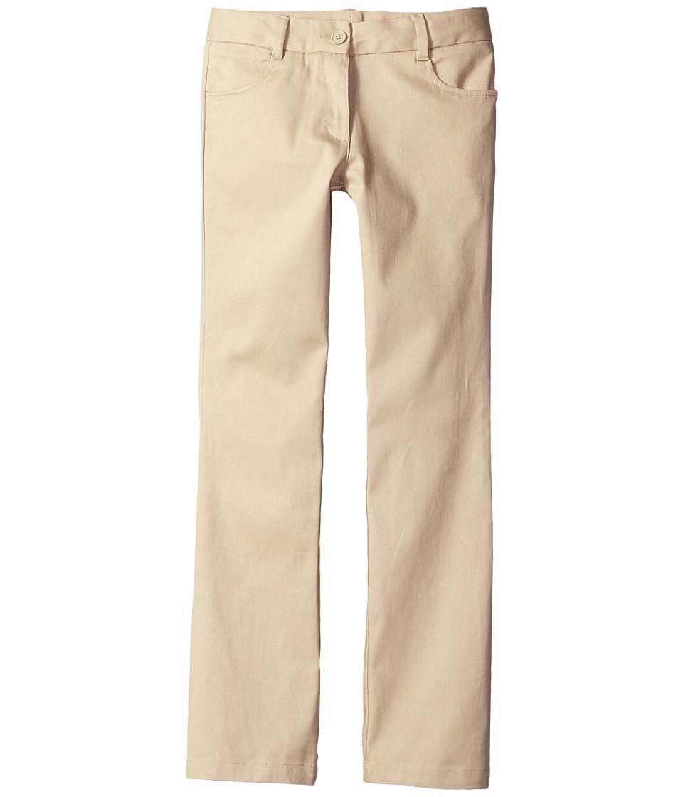 Nautica Kids - Girls Plus Bootcut Twill Pants (Big Kids) (Su Khaki) Girl's Casual Pants