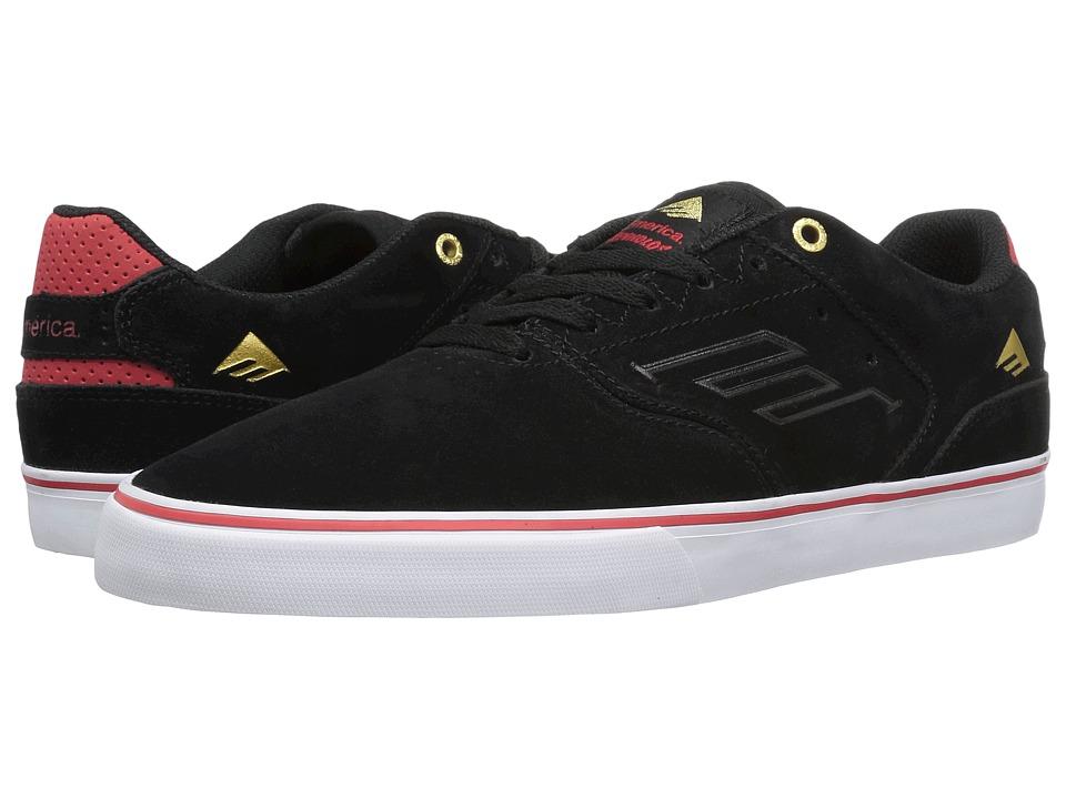 Emerica - The Reynolds Low Vulc (Black/White/Red) Men's Skate Shoes