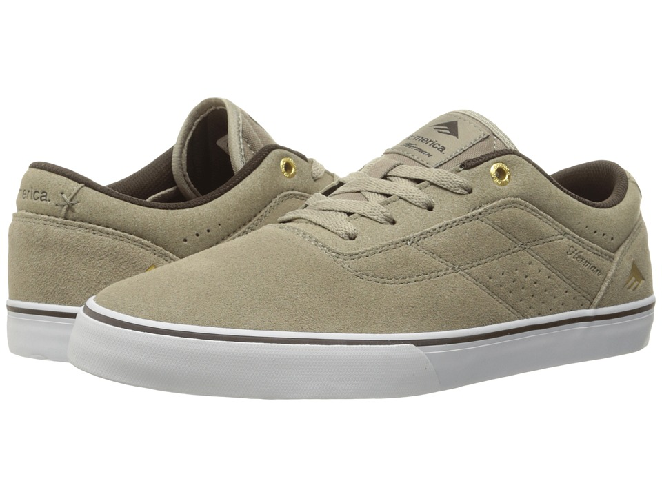Emerica - The Herman G6 Vulc (Warm Grey) Men's Skate Shoes