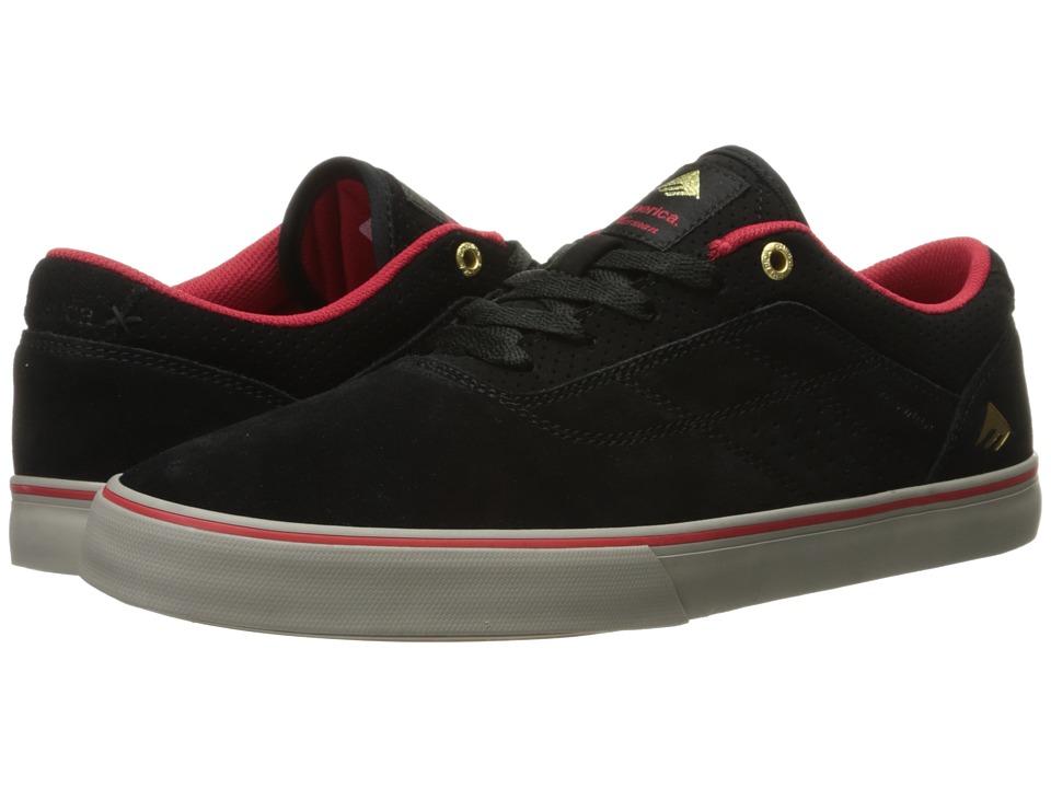 Emerica - The Herman G6 Vulc (Black/Red/Grey) Men's Skate Shoes