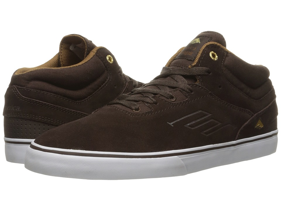 Emerica - The Westgate Mid Vulc (Dark Brown) Men's Skate Shoes