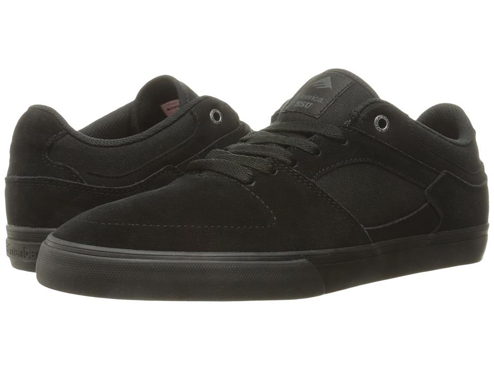 Emerica - The Hsu Low Vulc (Black/Black) Men's Shoes