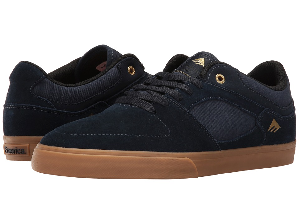 Emerica - The Hsu Low Vulc (Navy/Gum) Men's Shoes