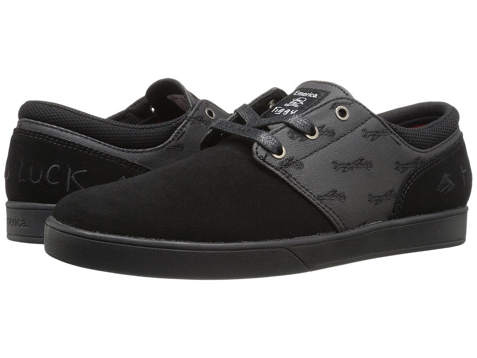 Emerica - Figueroa X Hard Luck (Black/Black) Men's Skate Shoes