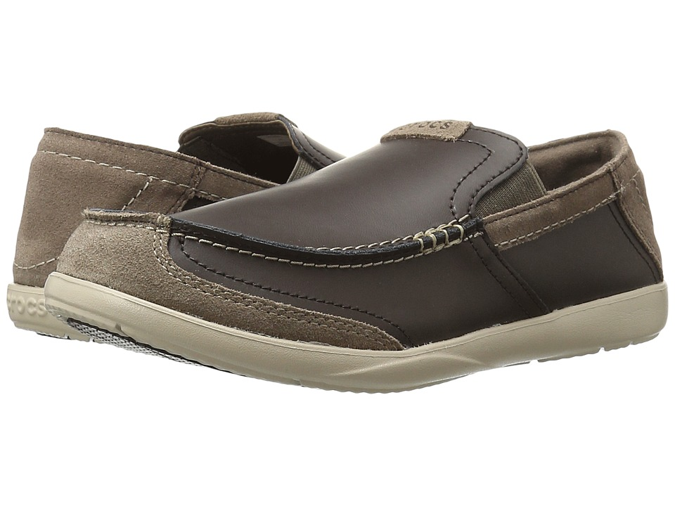 Crocs Walu Luxe Leather Loafer (Espresso/Espresso) Men