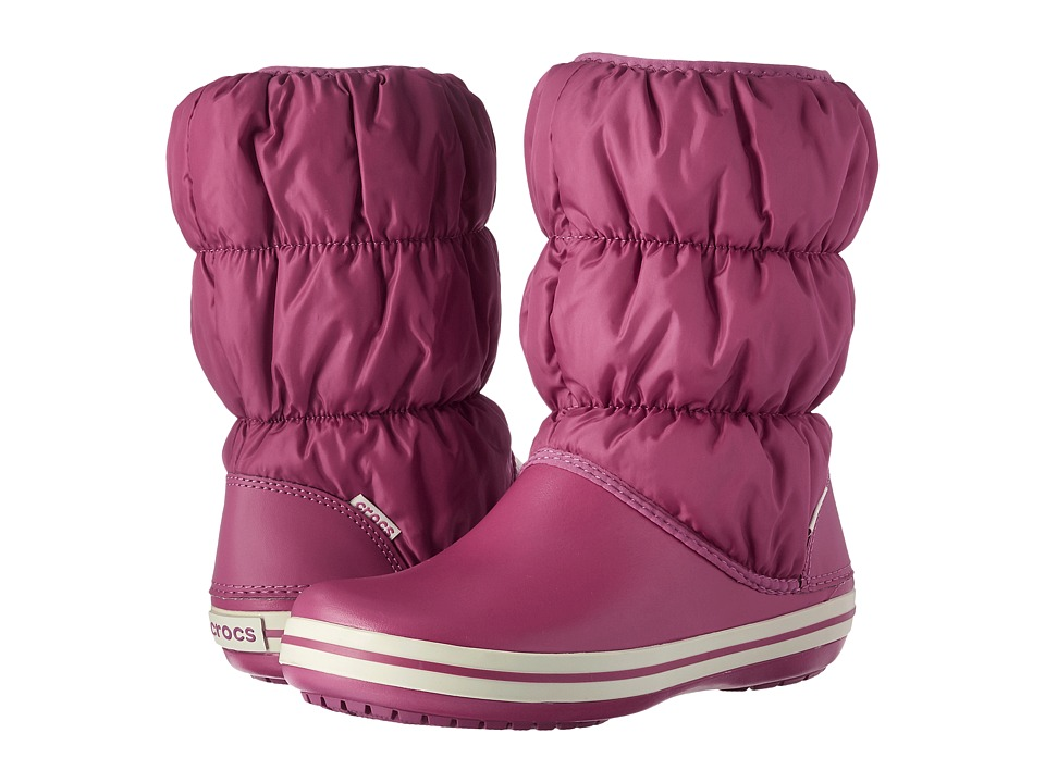 Crocs - Winter Puff Boot (Berry) Women's Boots