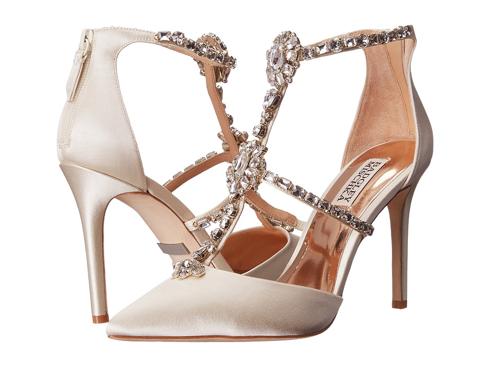 Badgley Mischka - Deker (Ivory Satin) High Heels