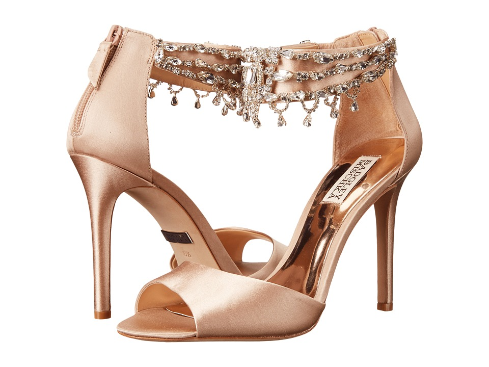 Badgley Mischka - Denise (Latte Satin) High Heels