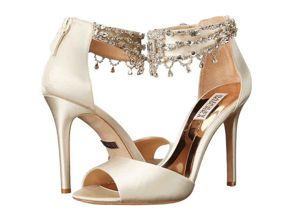 Badgley Mischka - Denise (Ivory Satin) High Heels