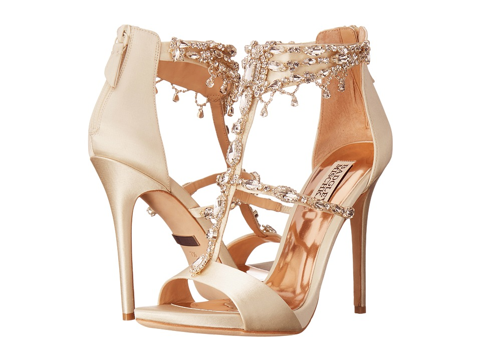 Badgley Mischka - Dent (Ivory Satin) High Heels