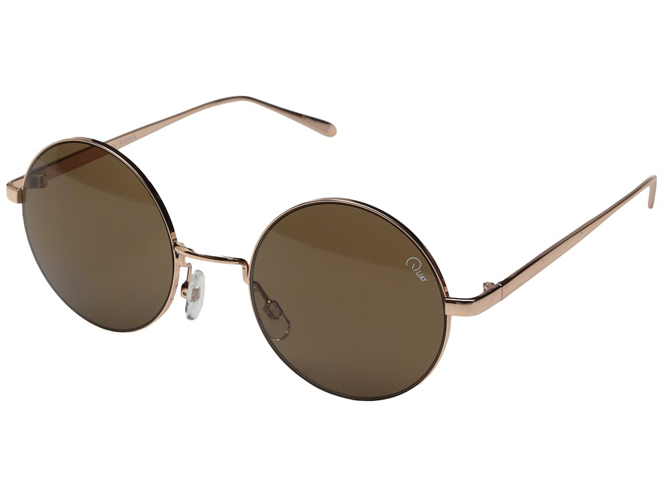 QUAY AUSTRALIA - Electric Dreams (Rose Gold/Brown Lens) Fashion Sunglasses