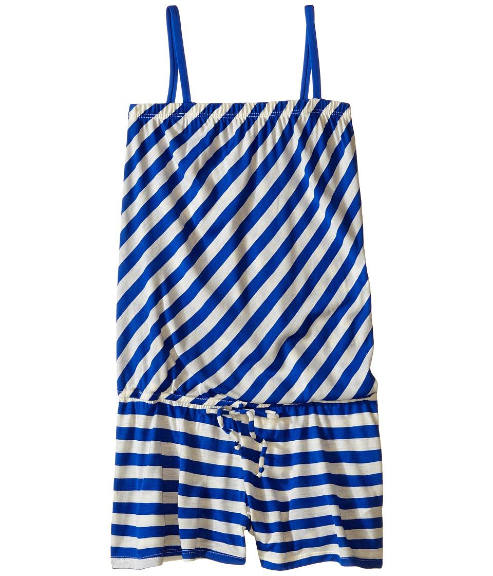 Ella Moss Girl - Cabana Romper Cover-Up (Little Kids/Big Kids) (Blue) Girl's Swimsuits One Piece