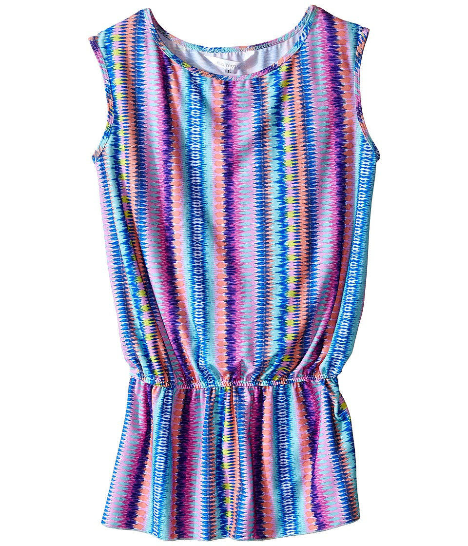 Ella Moss Girl - Festival Romper Cover-Up (Little Kids/Big Kids) (Multicolor) Girl's Swimsuits One Piece