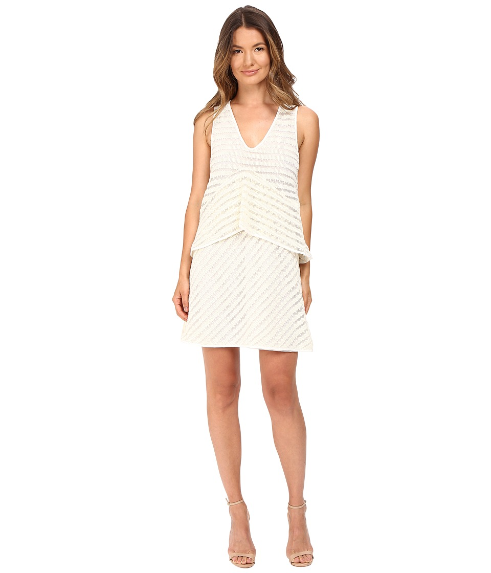 See by Chloe Graphic Lace Sleeveless Dress (Natural White) Women
