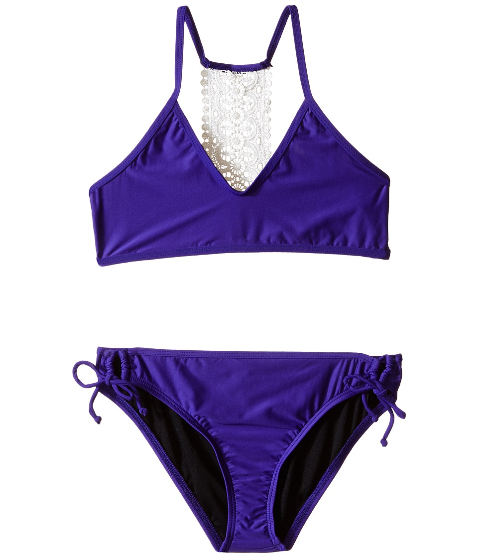 Ella Moss Girl - Stella Bralette Top and Tunnel Pant Bottoms (Big Kids) (Purple) Girl's Swimwear Sets