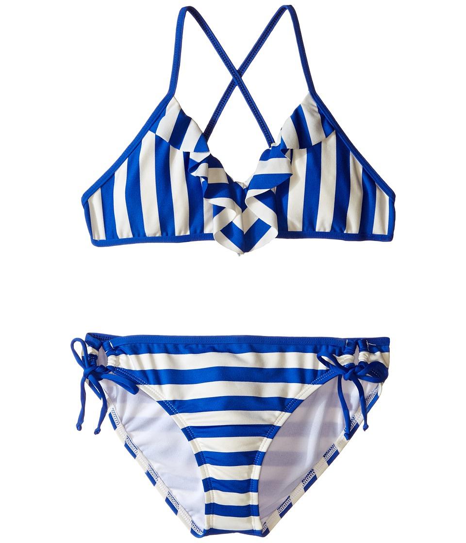 Ella Moss Girl - Cabana Crop Top and Tunnel Pants (Big Kids) (Blue) Girl's Swimwear Sets