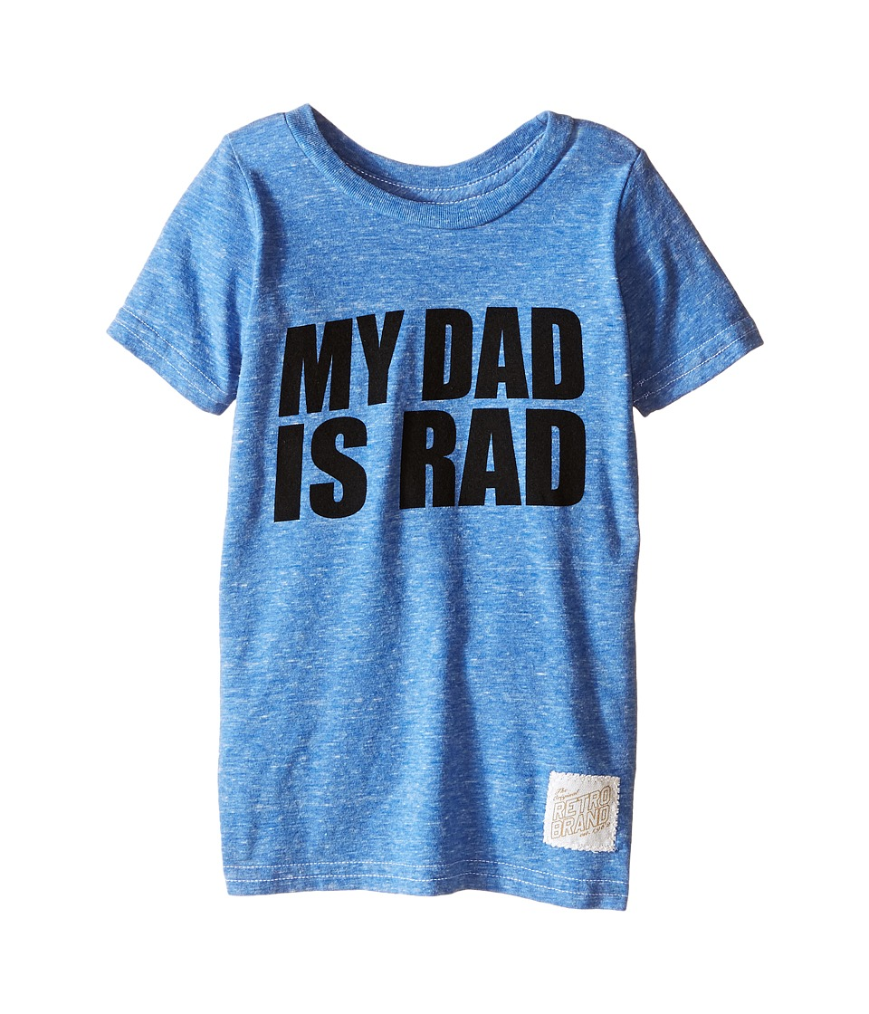 The Original Retro Brand Kids - My Dad is Rad Tri-Blend Tee (Toddler) (Streaky Blue) Boy's T Shirt