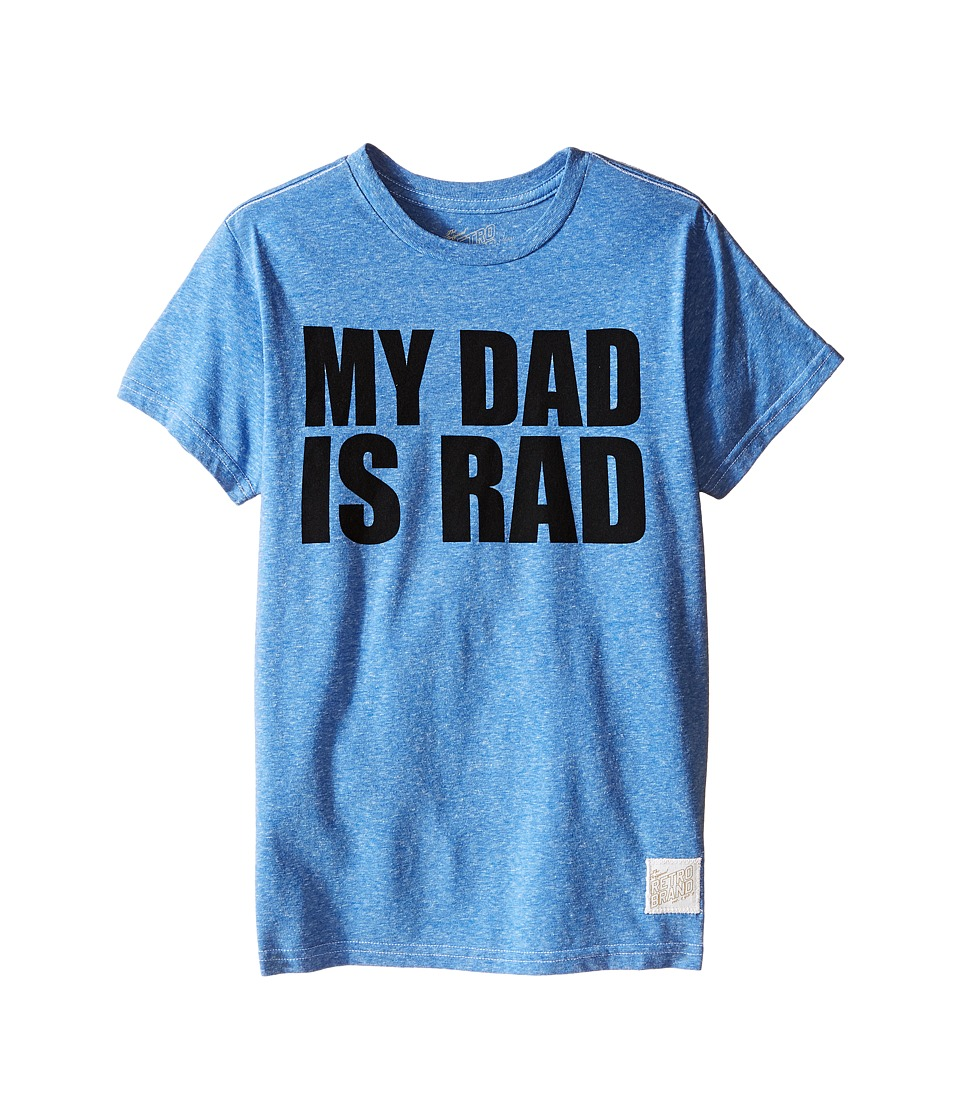 The Original Retro Brand Kids - My Dad is Rad Tri-Blend Tee (Little Kids/Big Kids) (Streaky Blue) Boy's T Shirt