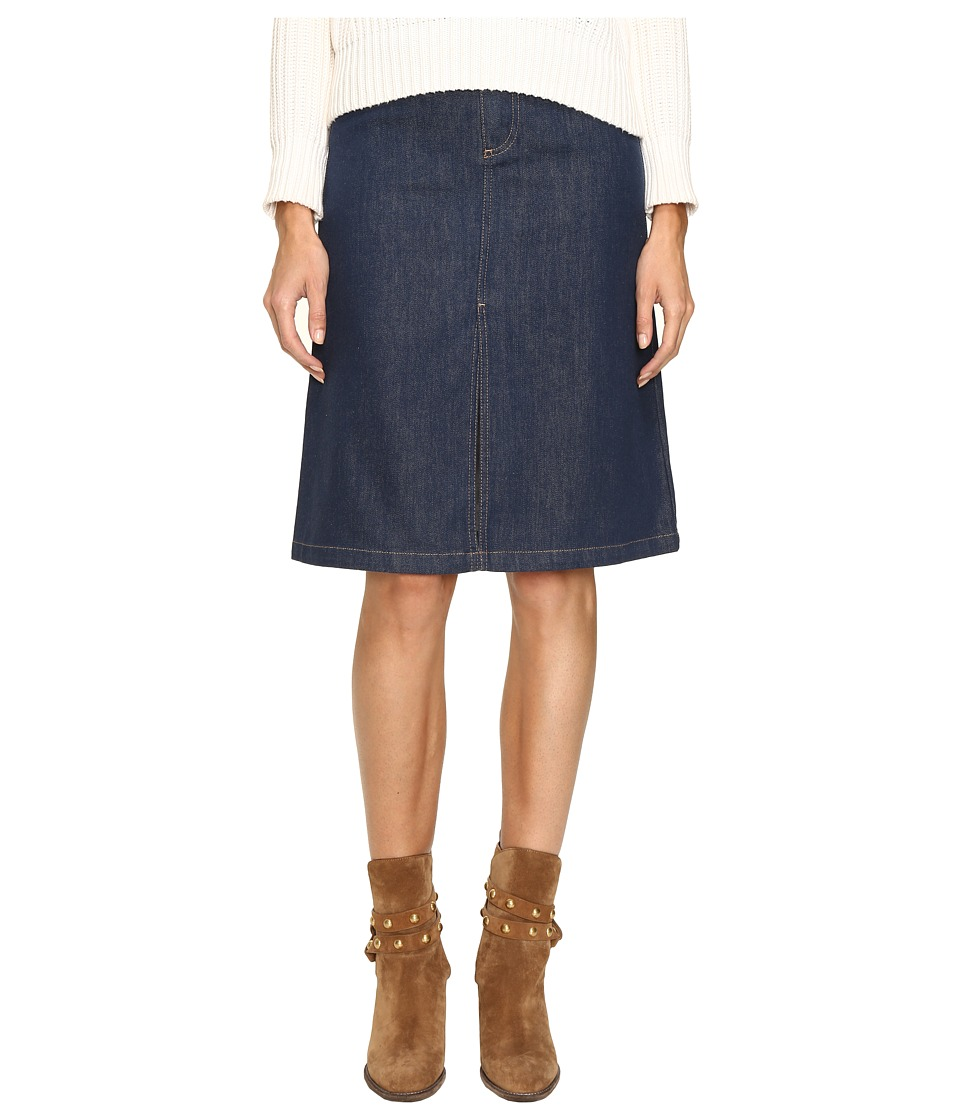 See by Chloe - Fringe Denim Skirt (Indigo) Women's Skirt
